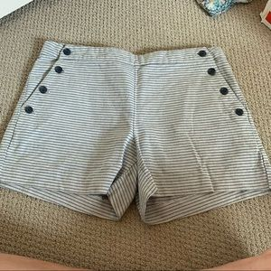 Banana Republic Striped Shorts with Button Detail